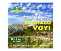 Te hacemos llegar a el Camino de Santiago.  Galicia, España.