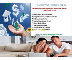 Oferta de préstamo entre individuos serios sin costo