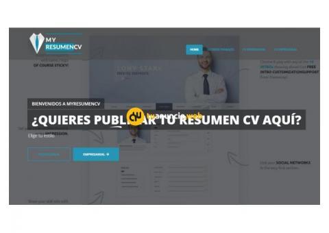 ¿Quieres publicar tu resumen CV en Internet?