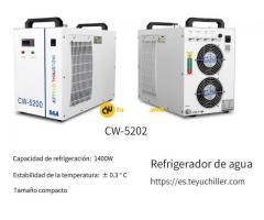 Mini enfriador de agua CW5202 para enfriar dos tubos láser de CO2 simultáneamente